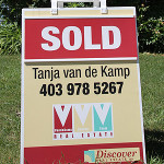 Sold sign Calgary Real Estate