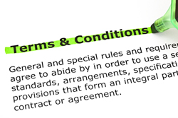 Terms & Conditions highlighted