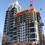 Calgary condo building under construction