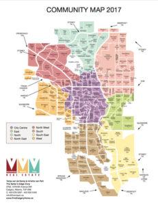 Calgary community map 2017