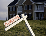 Foreclosure Sign by house
