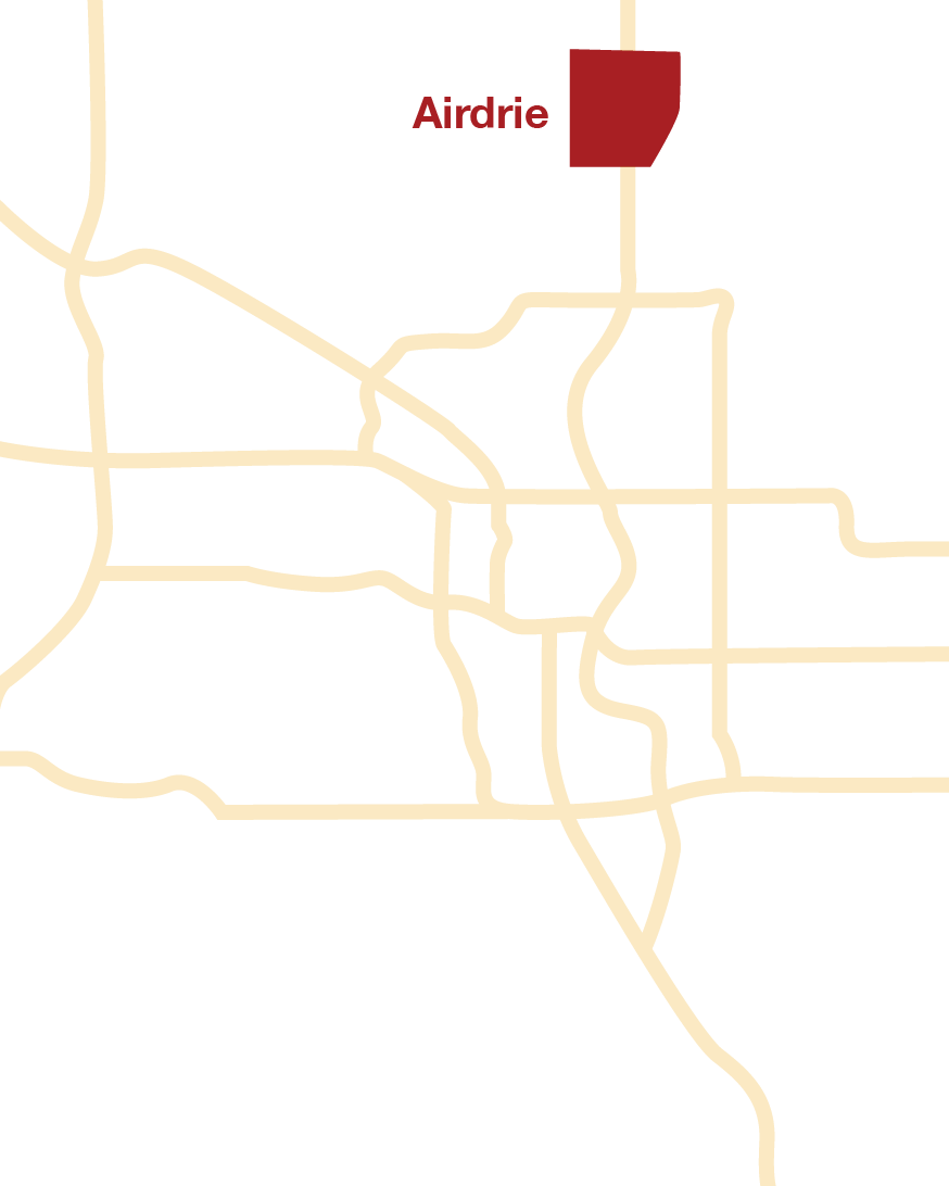 Airdrie location map