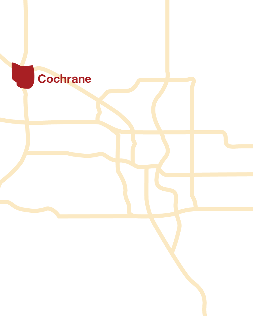 Cochrane location map
