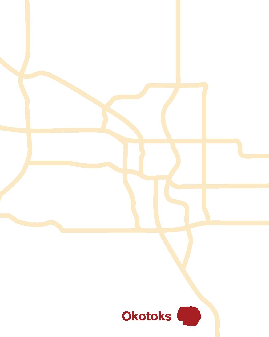 Okotoks location map